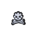 Skull Head Patch (Black)