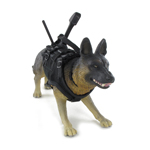 Belgian Malinois Dog with Harness and Equipment