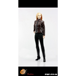 Modern women leather dress suits (Brown)