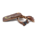 Leather Belt with Holster and Pouch (Brown)