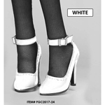 Female Anna Heeled Shoes (White)