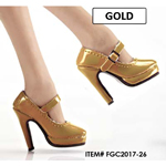Female Oktober Girl Heeled Shoes (Gold)