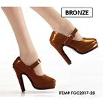 Female Oktober Girl Heeled Shoes (Bronze)