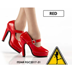Female Oktober Girl Heeled Shoes (Red)
