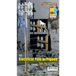 Electrical Pole with Pigeon
