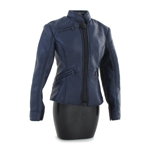 Female Leather Vest (Blue)