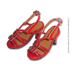 Shoes Series - Red Straps High Heel Shoes