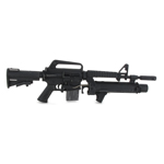 XM177 with XM148 Grenade Launcher (Black)