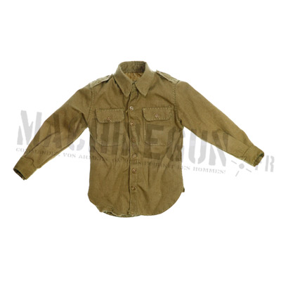 Olive drab coat style flannel shirt