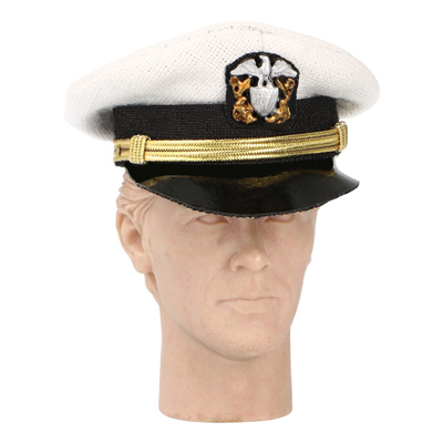 US Naval Visor Hat (White)