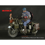 US Army WWII Harley-Davidson Motorcycle Die Cast (Movie Version)