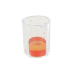 Graduated Beaker with Orange Substance (Transparent)