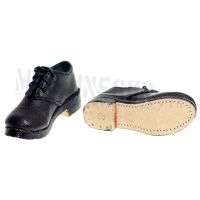 military and civilian black shoes