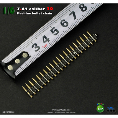 7.62 caliber machine bullet chain 20 hair