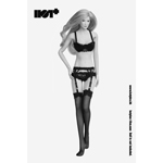 Female Lace Lingerie Set (Black)