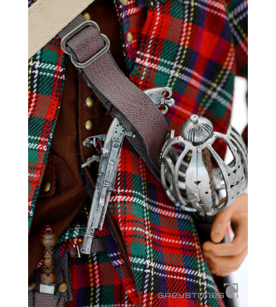 Greystone Collectibles Jacobite Highlander 1745 Tartan Plaid loose 1//6th scale