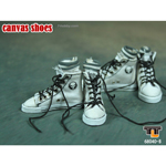 Female White Converse canvas with socks