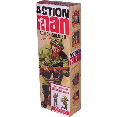 figurine action man imberbe brun peint