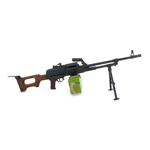 Diecast Wooden PKM 7,62 x 54R Machinegun