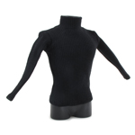 Black Polo-Neck Sweater (Black)