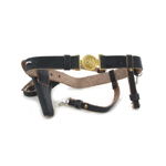 Sam Brown Belt with 1861 Revolver Colt (Black)