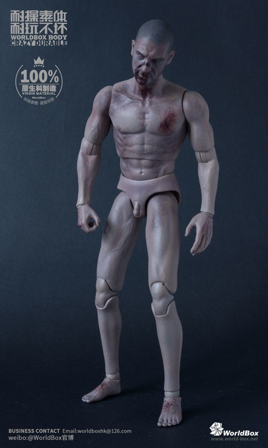 Caucasian Male Zombie Durable Body