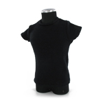 Black shirt straight with very short sleeves