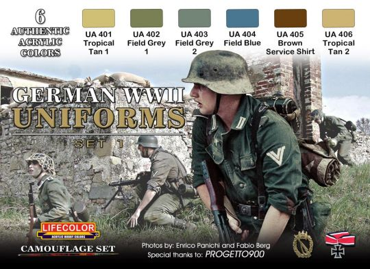 German WWII Military Uniforms Paint Set (Type A)