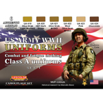US Army WWII Military Uniforms Paint Set (Type A)