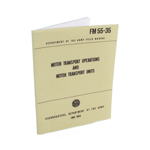 US Army FM55-35 Motor Transport Operations and Motor Transport Units Field Manual (Khaki)