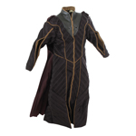 Kryptonian Long Jacket with Cape (Purple)