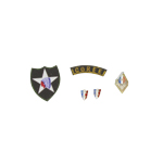 French battalion in Korea insignia set