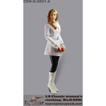 Classic Women's Leather Suit Set (White)
