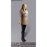 Classic Women's Leather Suit Set (Beige)