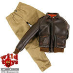Worn Leather A2 Jacket Set (Brown)