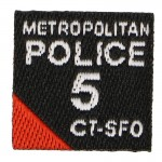 Metropolitan Police 5 CTSFO Patch (Black)