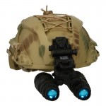 High Cut SF Helmet with AN/PVS-15 NVG (Snake Skin)