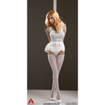 Steel Sexy Dancers Tutu Female Suit Set (White)