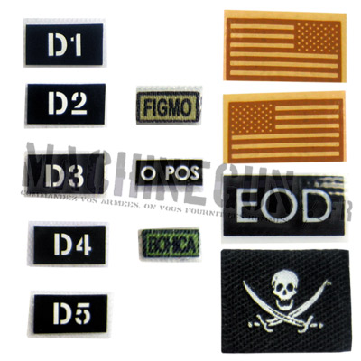 IR US flags - Reversed FIGMO BOHICA & EOD patches