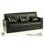 Leather three sofa (Black)