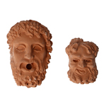 Zeus and Bacco Heads Sculpts (Orange)