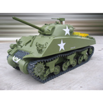 M4A3 Sherman tank gas powered 75mm Gun with radio and servos
