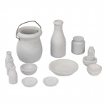 Wooden Tableware Set (Grey)
