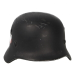Diecast Worn M35 Luftwaffe Double Decals Helmet (Black)