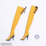 Female Heeled Boots (Yellow)