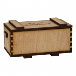 Wooden 3,7cm Cartridges Ammo Box (Beige)