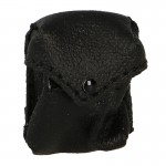 Leather Gas Mask Pouch (Black)