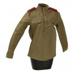 Female M43 Soviet Red Army Shirt (Olive Drab)