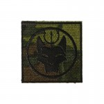 Navy Seal Team 6 Bravo Devgru Wolf Head Trident Patch (Multicam)