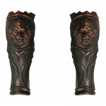 Diecast Leg Armors with Fur (Bronze)